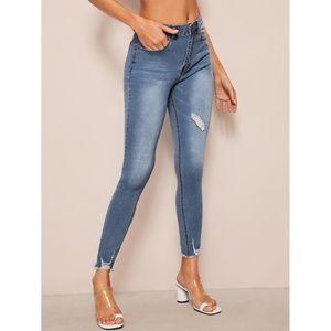Raw Hem Ultra Stretch Jeans